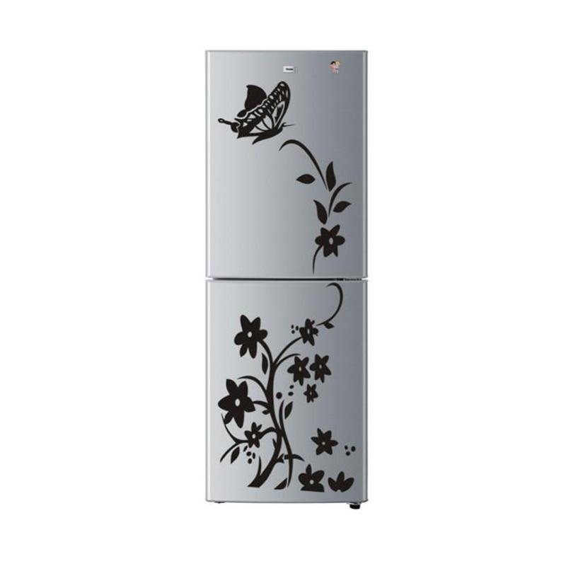 1 шт. бабочка цветок Форма Наклейки на стену DIY наклейки Книги по искусству Обои Черный Стикеры для дома холодильник Аксессуары