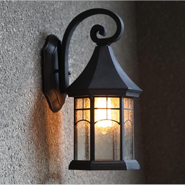 Fashion vintage outdoor wall lamp outdoor waterproof led american balcony single head lampsFashion vintage outdoor wall lamp outdoor waterproof led american balcony single head lamps