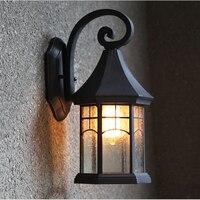 Fashion vintage outdoor wall lamp outdoor waterproof led american balcony single head lamps