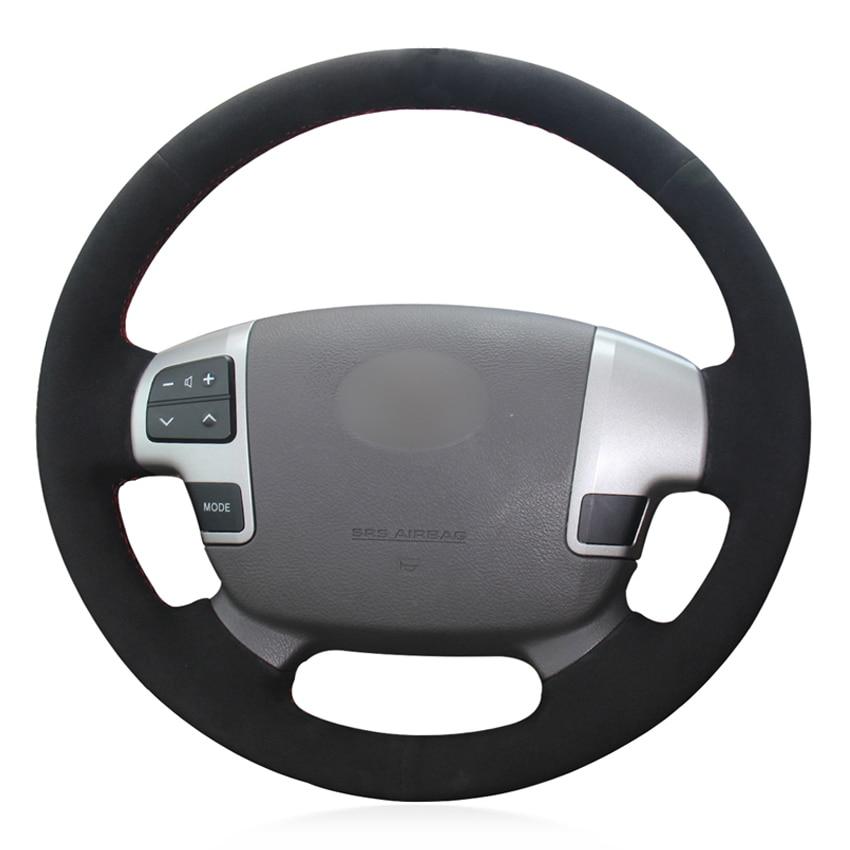 Dedicated Zwart Suede Diy Hand-gestikt Auto Stuurhoes Voor Toyota Land Cruiser 2008-2015 Tundra 2007- 2013 Voldoende Aanbod