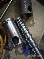 L = 180mm puffing 기계 나사 슬리브 샤프트로드/옥수수 거친