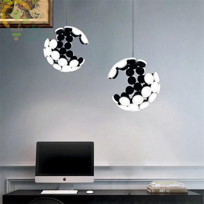 Modern Creative Led Pendant Light Irregular Hollow Shape