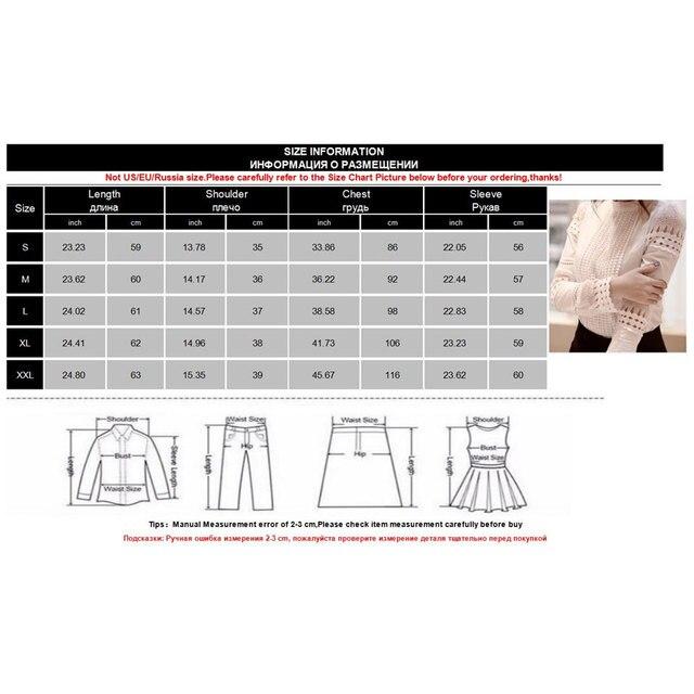 2018 Korean Fashion Women Clothing Ladies Slim Bottoming Long Sleeve White Shirts Lace Hollow Out Women Blouse Shirts Plus Size