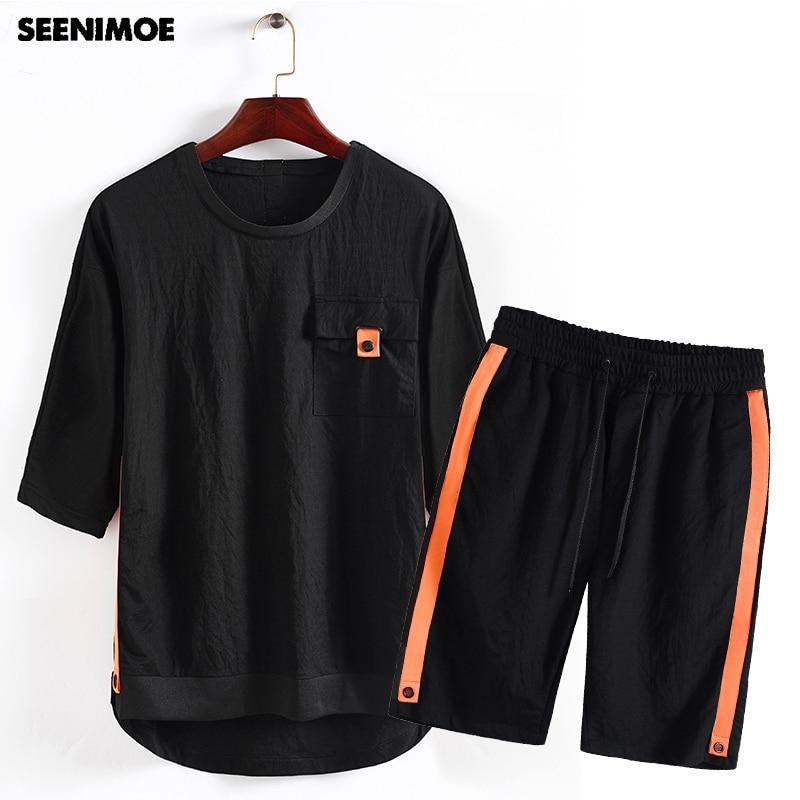 12fc5d9fcc2e Uomini Pista Per Sudore Seenimoe Adatta Alle Di Vestito shirt Set 2019  Mh06bl Pants A Tuta Tute T Mens Tshirt Due Pezzi Marca ...