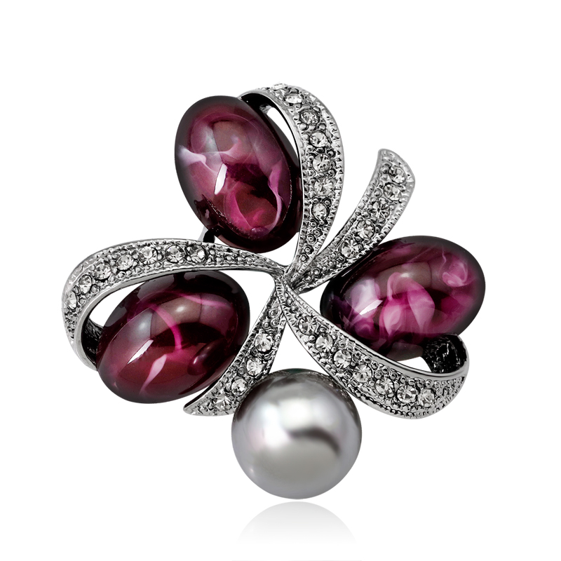 Hot Sale Pearls Rose Brooches For Women Flower Brooch Pins Female Plant Jewelry Pins Retro Palace Style Jewelry Wholesale