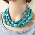 Free Shipping New Design Three Layers Irregular Plastic Material Beads Choker Necklace