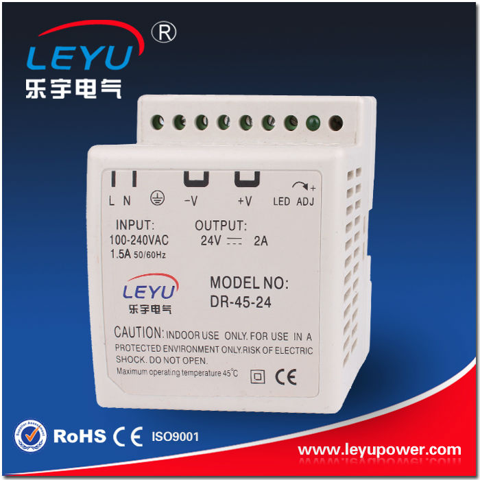 Two Years Warranty 45w Din Rail Mount With LED Indicator For Power On p10 real estate project hd clear led message board 2 years warranty