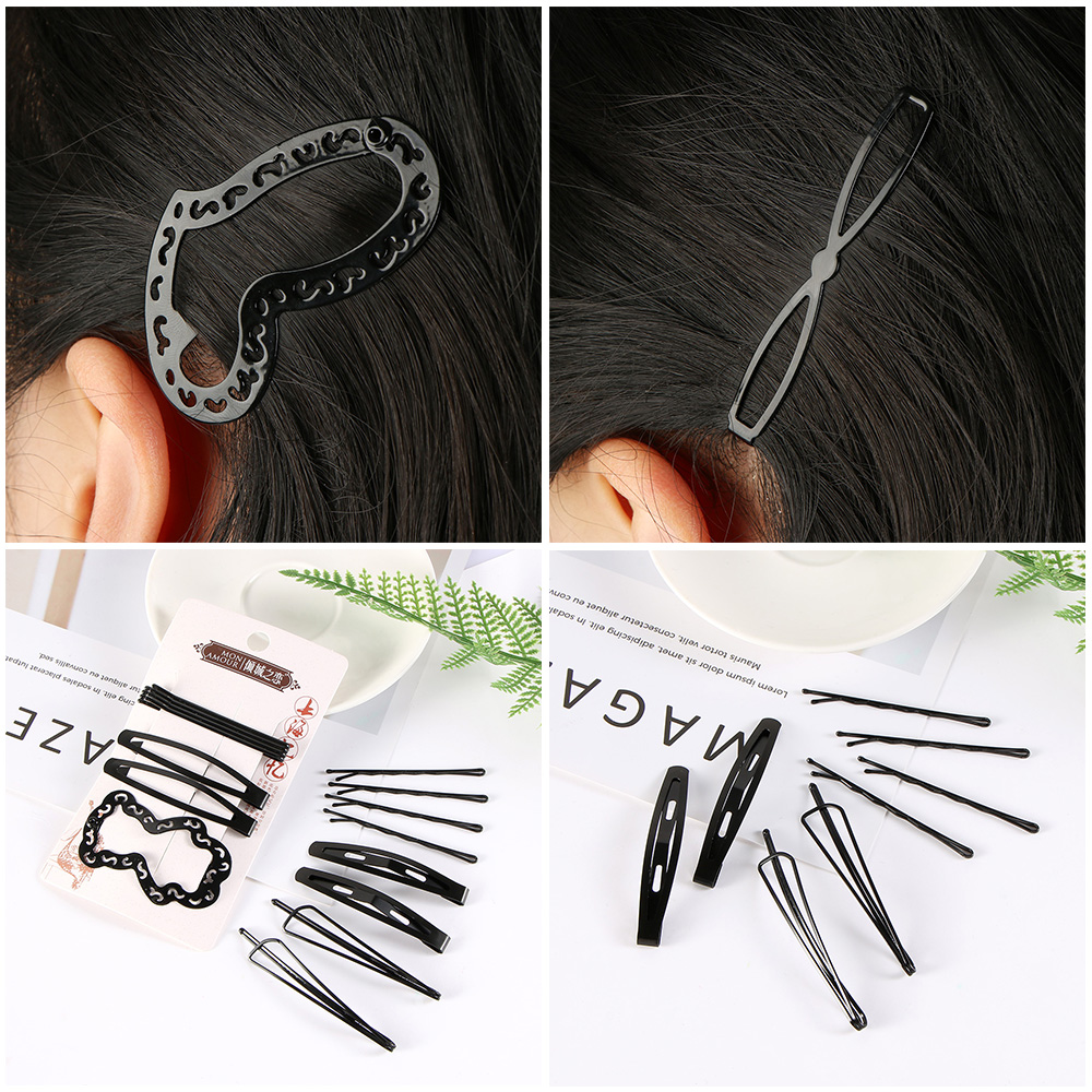 5 Styles New Simple Black Hair Clips Girls Hairpins BB Clips Barrettes Headbands For Womens Hairgrips Hair Accessories