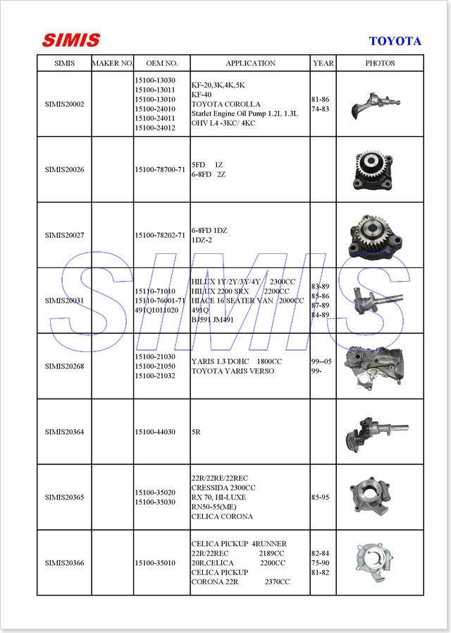Type 2 Bay pompe à huile Noir-AC1151859 maxi 30 /> 1970 F//Débit CB Performance