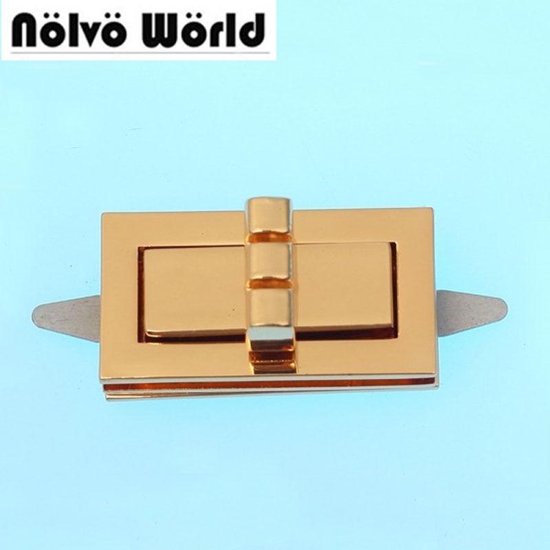 20pcs 41*22mm Bags Hardware Turn Locks,handbags Lock Drop Catch Bags Purse Twist Turn Lock