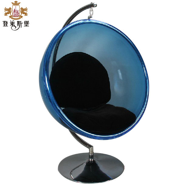 Europe and the United crescent floating ball chair shook hemisphere designer and creative leisure space recliner chairs Nordic-in Dining Chairs from ...  sc 1 st  AliExpress.com & Europe and the United crescent floating ball chair shook hemisphere ...