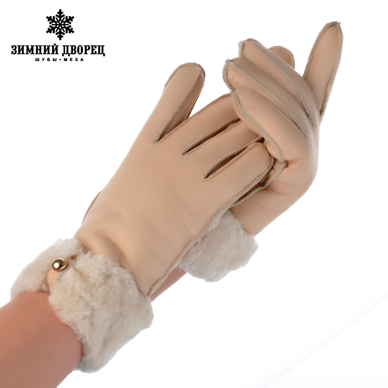 New promotio2016 gloves sheep fur gloves female manual brand fashion mittens women winter mittens women gloves