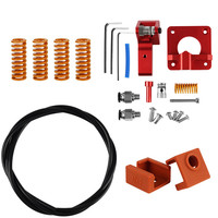 3D Printer Spring Extruder Kit For Creality Cr 10S Pro Ender 3 Ptfe 3D Printer Accessories Replace PETG Tube MK9 Silicone Case