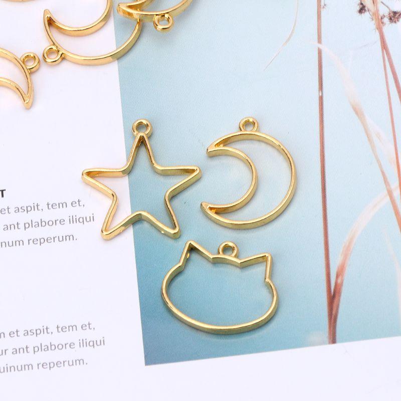 5Pcs Moon Star Blank Resin Frame Pendant Open Bezel Setting Jewelry Making DIY