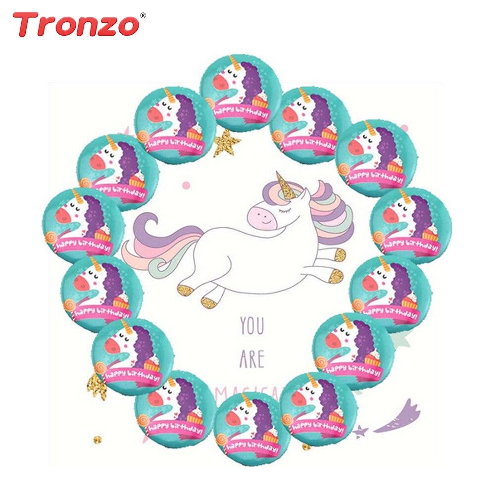 Tronzo 5pcs Unicorn Badge Happy Birthday Decoration Unicorn Party Multi Color Mini Unicorn Badge Unicorn Anniversary Kids Favors