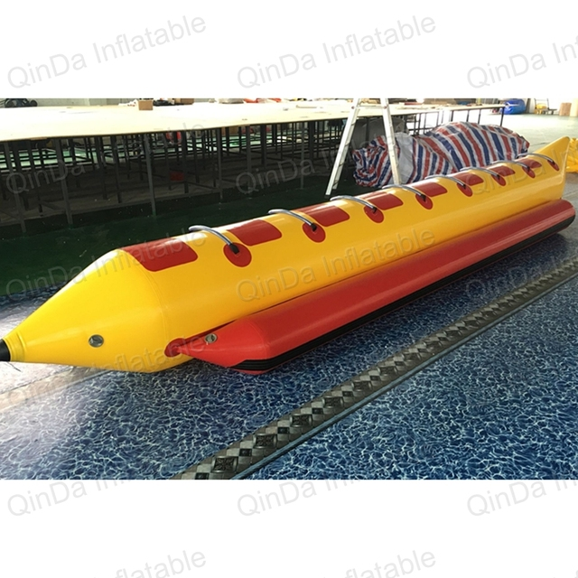 8 Seats PVC Tarpaulin Inflatable Flying Fish Tube Towable / Inflatable Water Games Flyfish Banana Boat For Sea