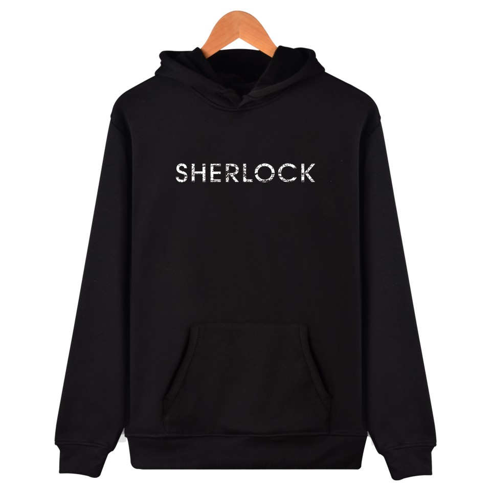 Hot Sale Sherlock Hoodies Mens Warm Clothes With XXS To 4XL And SherLock Holmes Hooded Sweatshirt With Cap Black Garments