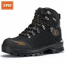 TFO piesze wycieczki buty człowiek kobiety mountain 100% Oryginalne skórzane buty Wspinaczkowe wodoodporna trekking tactical odkryty zimowe wędkowanie 2017