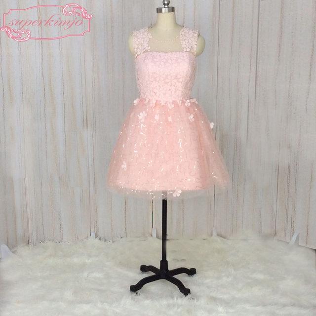 Tienda Online Superkimjo vestidos de 15 cortos Pink puffy Vestidos ...