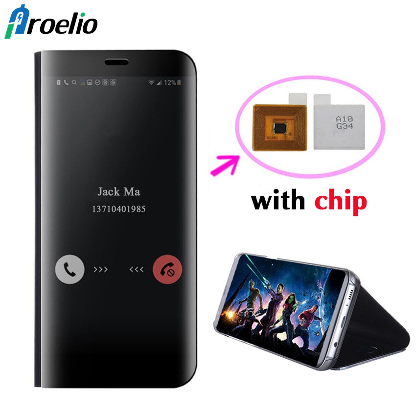 Proelio Flip Couverture En Cuir Cas Pour Samsung Galaxy S8 Plus S8 Note 8 G950F G955F N950F Téléphone Cas Smart Puce Clear View couverture