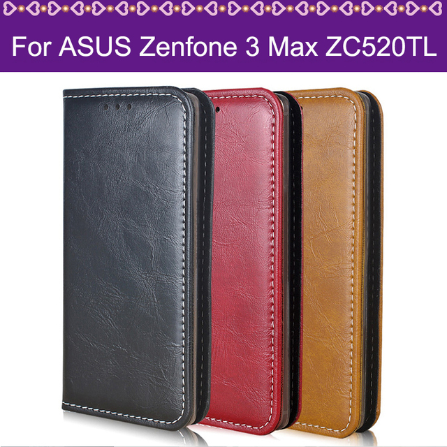 Lamocase Phone Case For ASUS Zenfone 3 Max ZC520TL 5.2 Funda Wallet Leather Flip Cover For Asus Zenfone 3 Max ZC520TL Case Cover