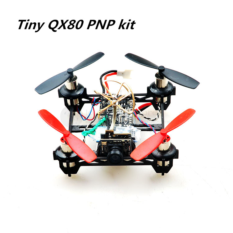 DIY FPV micro indoor drone Tiny QX80 PNP kit pure carbon frame F3_EVO brush FC 25MW 32-CH 520TVL camera 8520 brush motor, prop salmo tiny f
