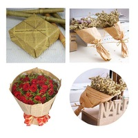Wrapping Paper New Retro Letters Printing Flowers Novelty Newspaper Kraft Paper Double Sides Party Gift Decoration