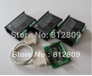 <font><b>3</b></font> <font><b>axis</b></font> nema17 or nema23 stepper driver 20-50VDC 4.5A controller <font><b>kit</b></font> for <font><b>CNC</b></font> Router <font><b>Mill</b></font> 256 micsteps image