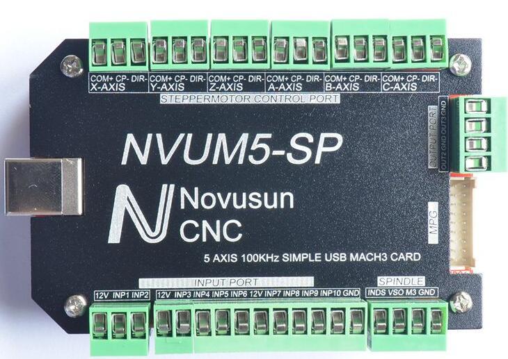 5 Axis Simple USB Mach3 Card Interface board Motion control board 100KHz PWM mach3 interface board usb interface board engraving machine cnc motion control card 5 axis 200khz
