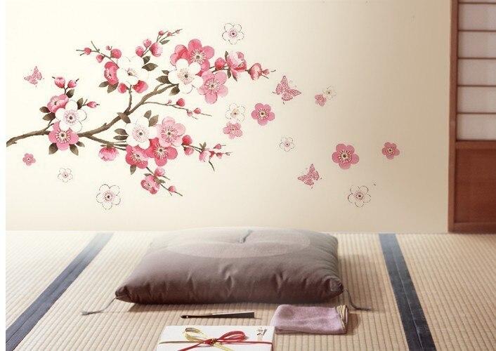 ... Cherry Blossom Flower Bedroom Room Art Vinyl Decal Home Decor Wall  Sticker Big 60* Part 77