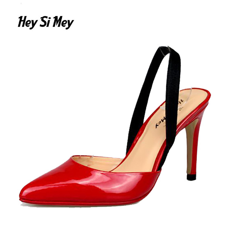 New 2107 Hot Women Pumps Ladies Sexy Pointed Toe High Heels Fashion Ankle Strap High Heel Sandals Shoes Large Size High Pumps  european style pointed toe high heels sandals ladies party shoes 2017 sexy pointed toe chunky women ankle strap gladiator sandal