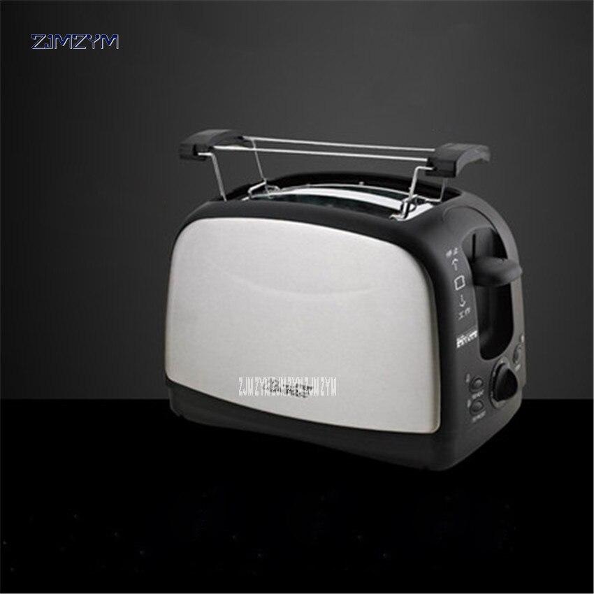 WST-998 ménage automatique pain grille-pain cuisson Machine à pain 2 tranches fentes en acier inoxydable multifonctionnel 220 V/50 hz