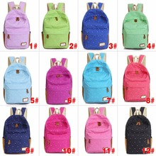 Fashion Unisex Dot Printing Backpack School Book Backpacks  Shoulder Bag Casual Stylish