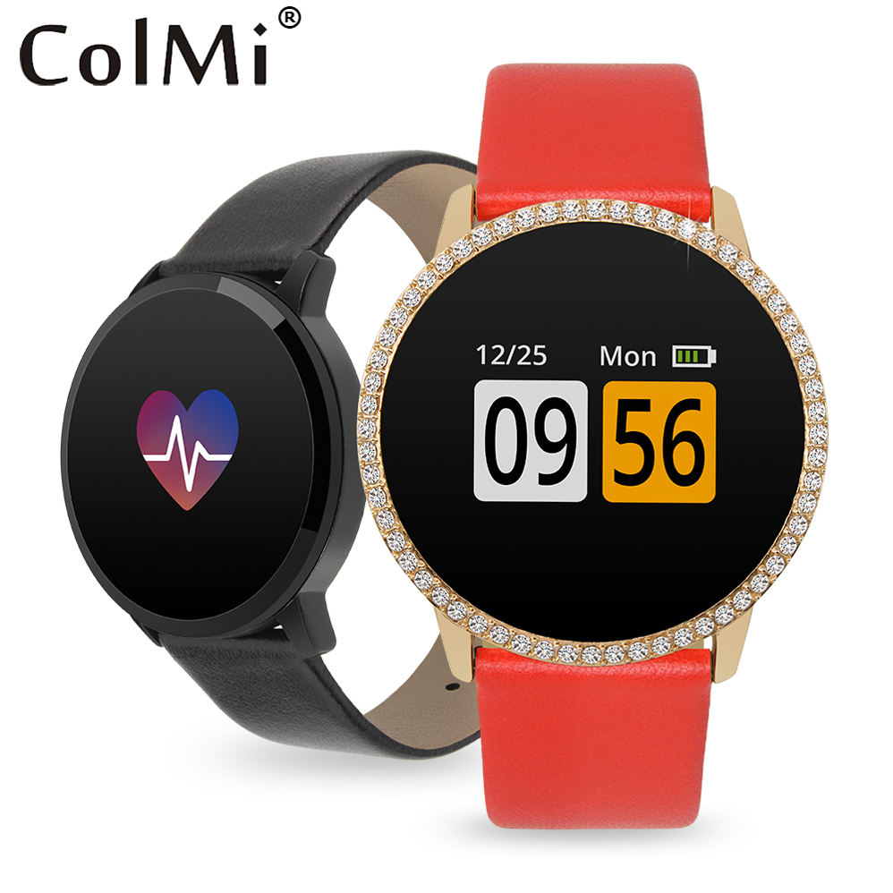 ColMi A1 Zircon Lovers Smart Bracelet Watch IP67 Waterproof Heart Rate Monitor Pedometer Women Men Brim Band For IOS Android