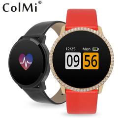XJ COLMI A1 циркон любителей умные часы-браслет IP67 Водонепроницаемый монитор сердечного ритма шагомер Для женщин Для мужчин Брим группа для IOS