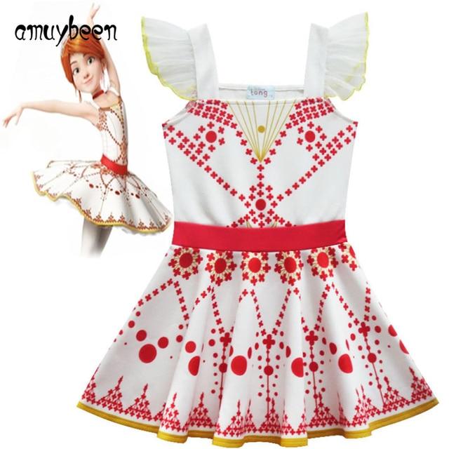fb7cc7160d Amuybeen Meninas Vestido Adolescente Fantasias de Carnaval De Natal Félicie  Bailarina Princesa Do Partido Dos Miúdos