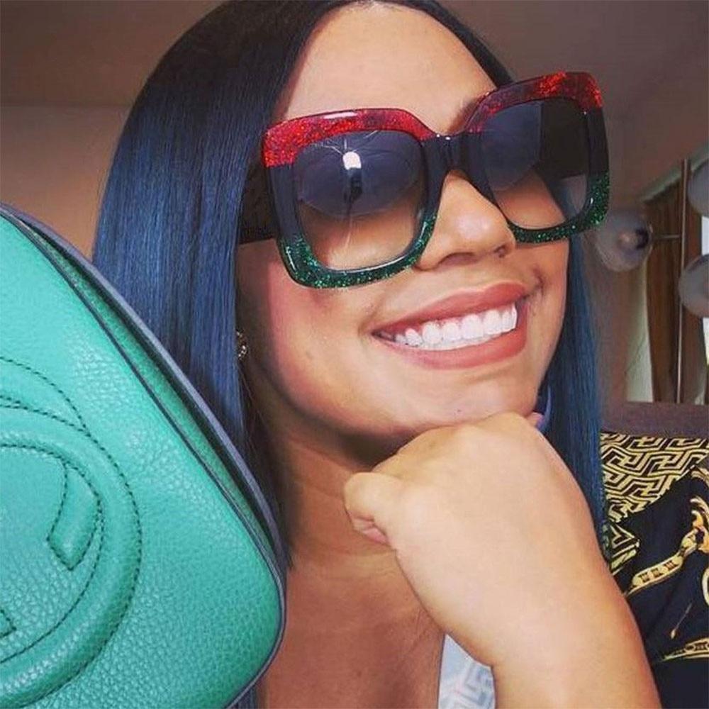 2019 Luxury High Quality Square Sunglasses Women Brand Desig