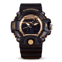 2016 new design men watch multifunction electronic alarm clock luminous waterproof sports watch big dial watch