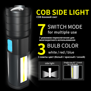 Image 4 - High End LED Flashlight COB Camping light Mobile power Double side light Rechargeable Super bright Torch Tail with magnet