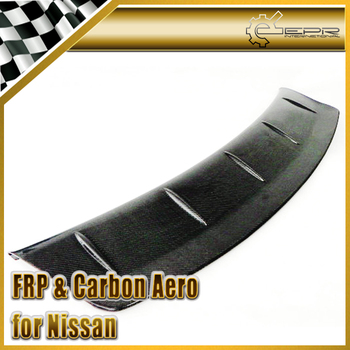 Car-styling For Nissan R35 GTR OEM Carbon Fiber Spoiler Blade Wald Add On Gurney Flap In Stock