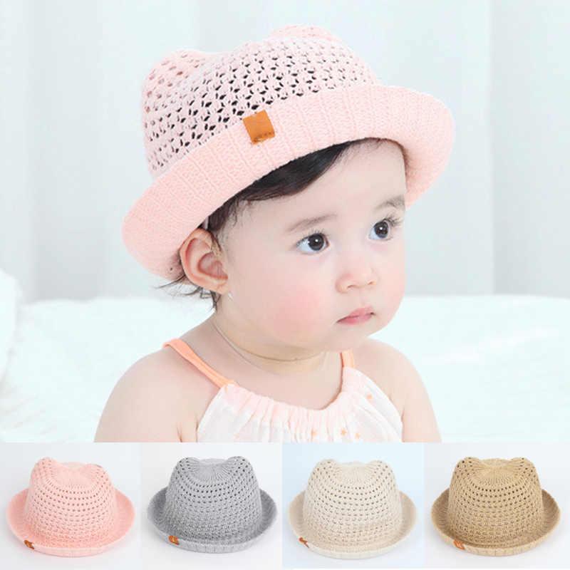 Panama enfants été bébé chapeaux enfants seau casquette pour bébé bébé garçons filles soleil chapeau creux maille casquettes décontracté plage casquettes