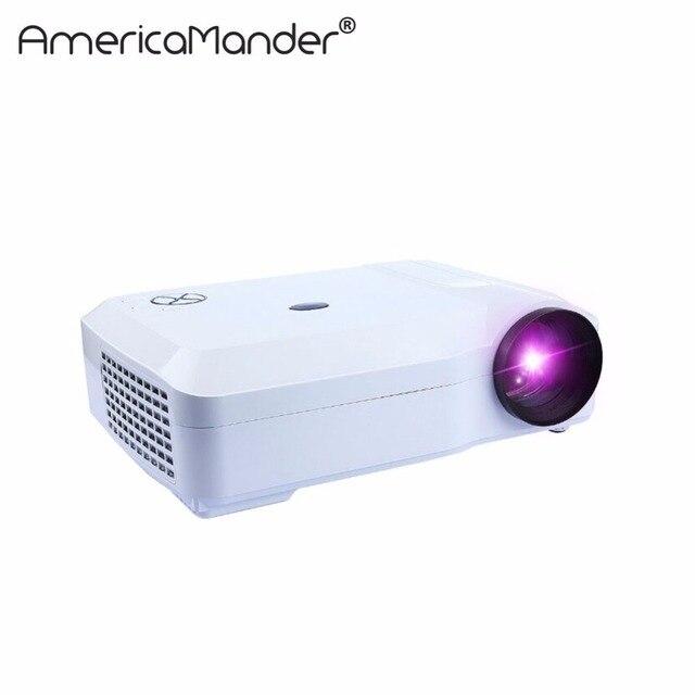 250 inch Яркий 3000 Люмен Full HD DLP Бизнес Рекламы Образования данные показывают 3d-проектор Бимер Projektor Proyector