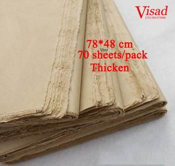 d6aacffe5 Nueva arcaizante Papeles de pintura caligrafía china Papel de arroz Plumas  papel borde deckle-borde papel Mao Bian Zhi
