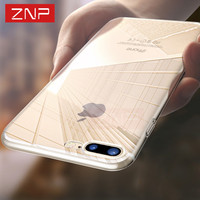 ZNP Ultra Thin Soft Transparent TPU Case For iPhone 7 7 Plus 7S 6S Silicone Case Cover For iPhone 6 6s Plus 5 5S SE Phone Case