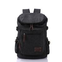 Mens Canvas Backpack Casual Travel Backpack Laptop Bag Schoolbag Student Book Bag Large Capacity Fashion Man