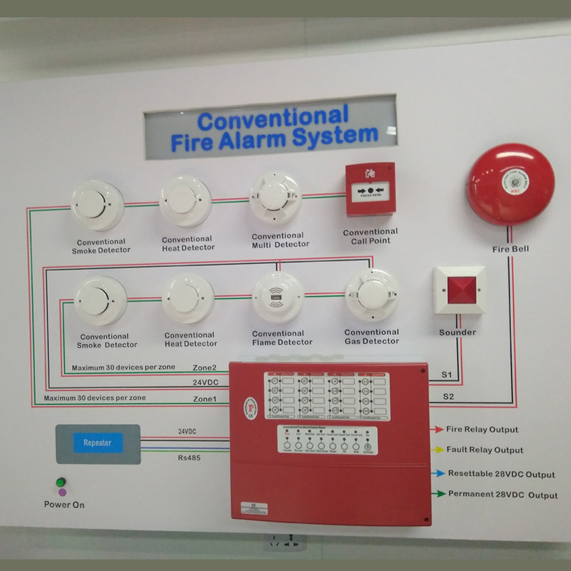 conventional fire alarm control panel wiring diagram critical path analysis network new free shipping16 zone facp detector ...
