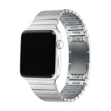 For Apple Watch Premium 316L Stainless Steel iWatch Detachable Band Strap invisible Clasp With Adapter Connector