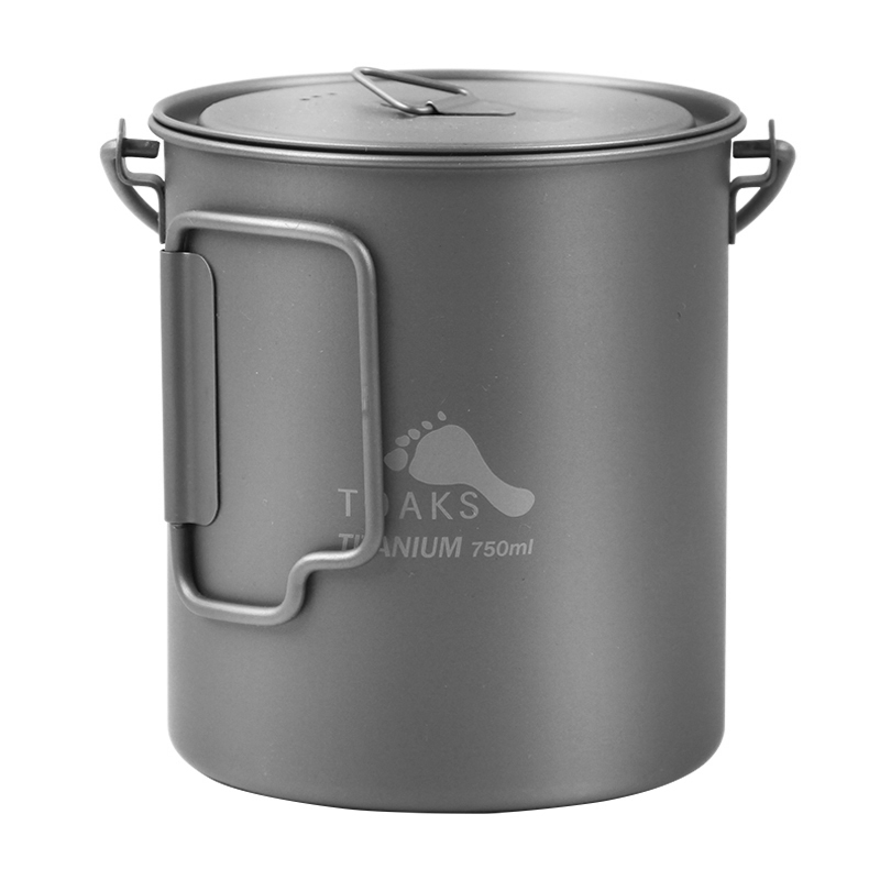 TOAKS Titanium Outdoor Camping Pot Cooking Pots Picnic Hang Pot Ultralight Titanium Pot 750ml POT 750