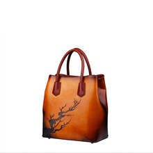 MAIHUI women leather handbags high quality shoulder bags 2017 new fashion designer genuine leather pure Hand-carved pattern bag