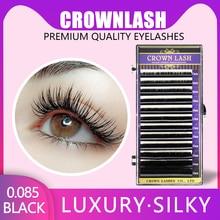 CrownLASH Black B C D 0.085 7-15mm mixed size tray Volume Eyelash Extension Russian 3D Volume Lash mardock scramble volume 7